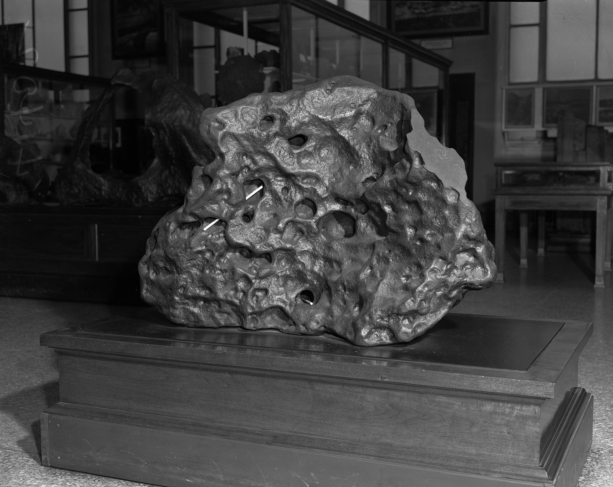 Goose Lake Meteorite on Exhibit