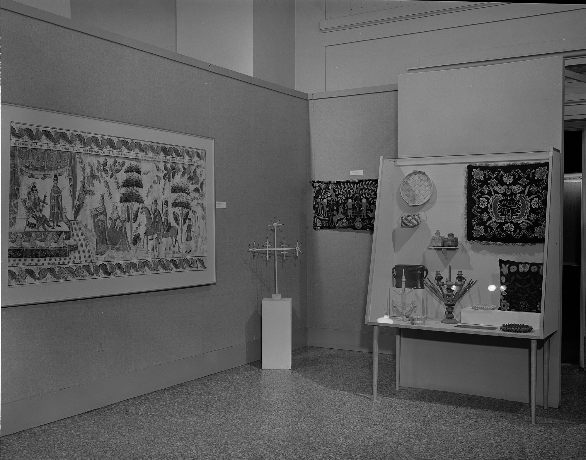 Swedish Folk Art, Exhibition, by Unknown, 1964, Smithsonian Archives - History Div, MNH541A.