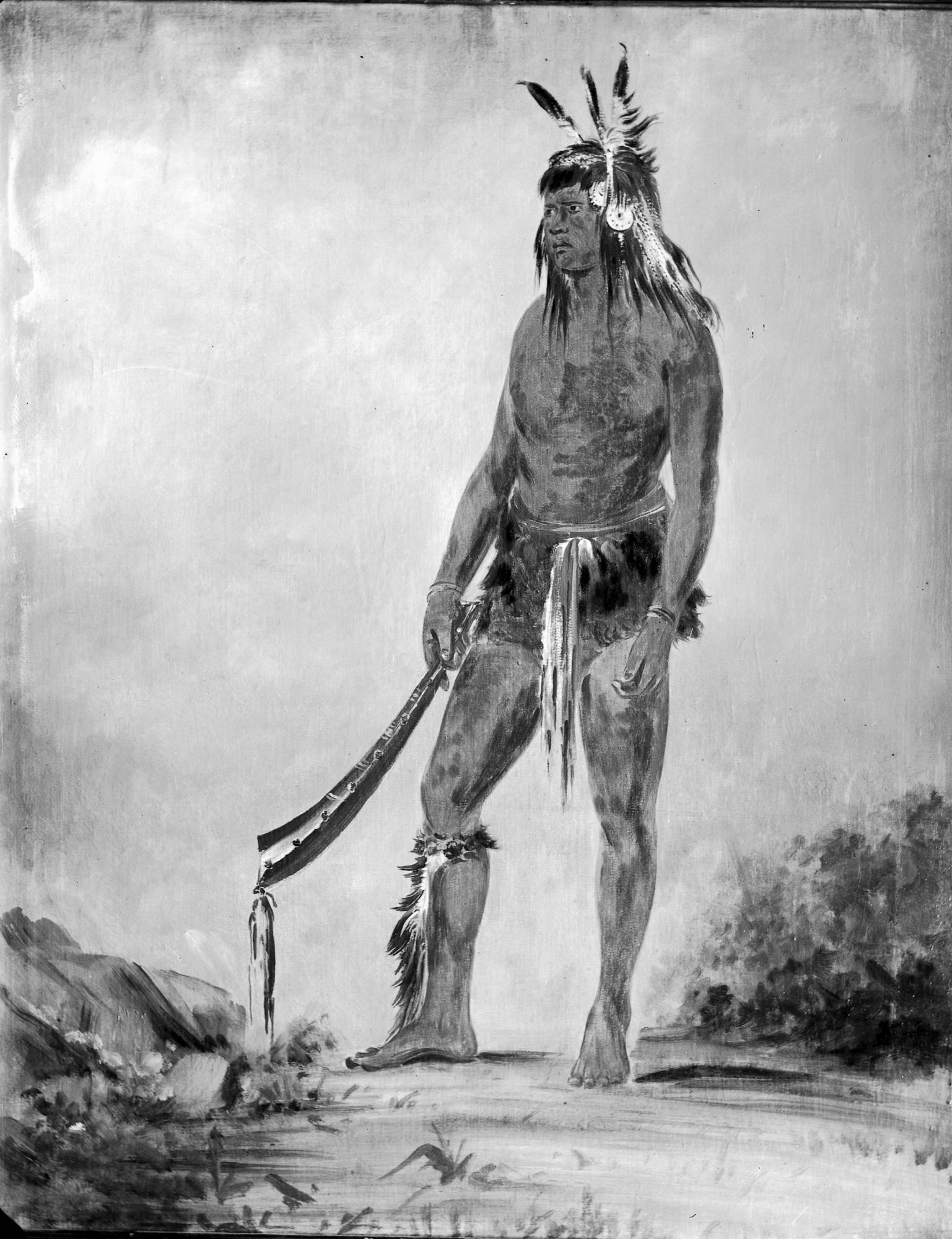 Stanley Indian Portrait, standing figure
