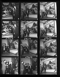 Unveiling of Mural by Alton Tobey in Hall of Physical Anthropology