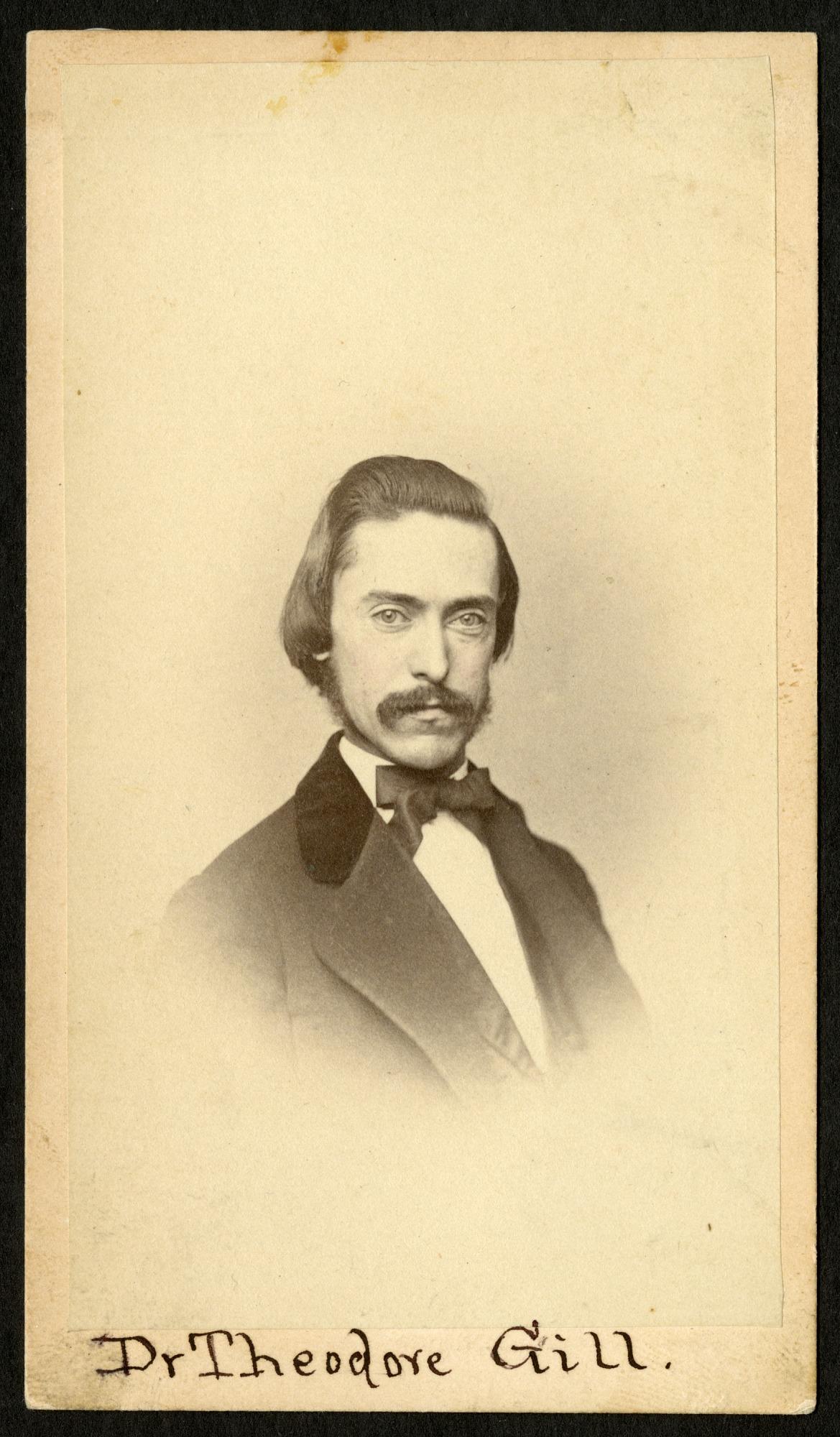 Theodore Nicholas Gill (1837-1914), Smithsonian Institution Archives, SIA RU000095 [SA-602].
