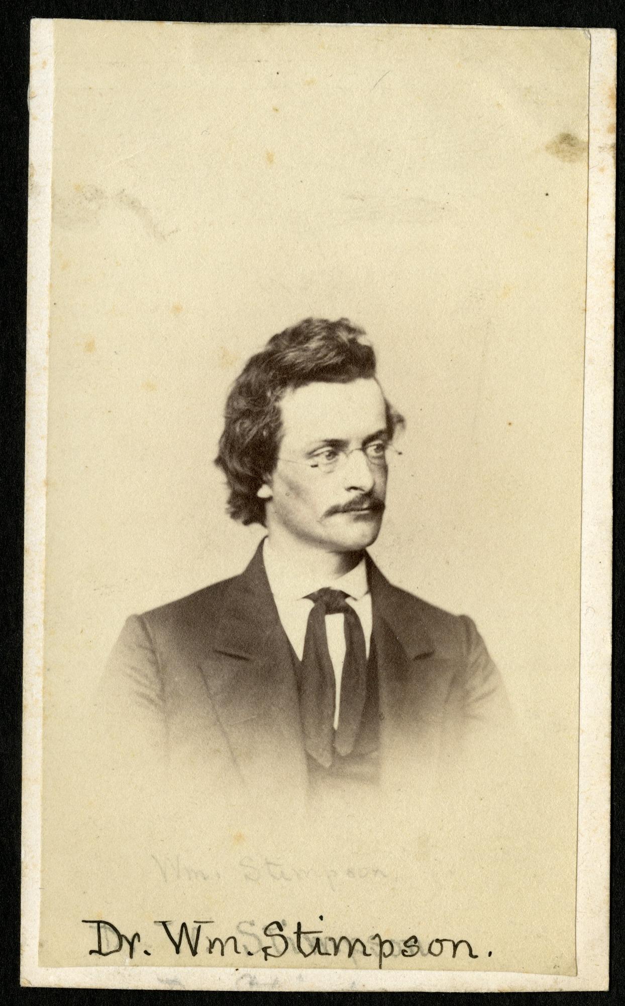 William Stimpson (1832-1872), Smithsonian Institution Archives, SIA RU000095 [SA-778].