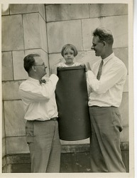 Watson Davis, Frank Thone, and Charlotte Davis (daughter of Watson)