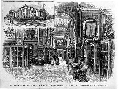 Interior and Exterior of Patent Office Building 1891
