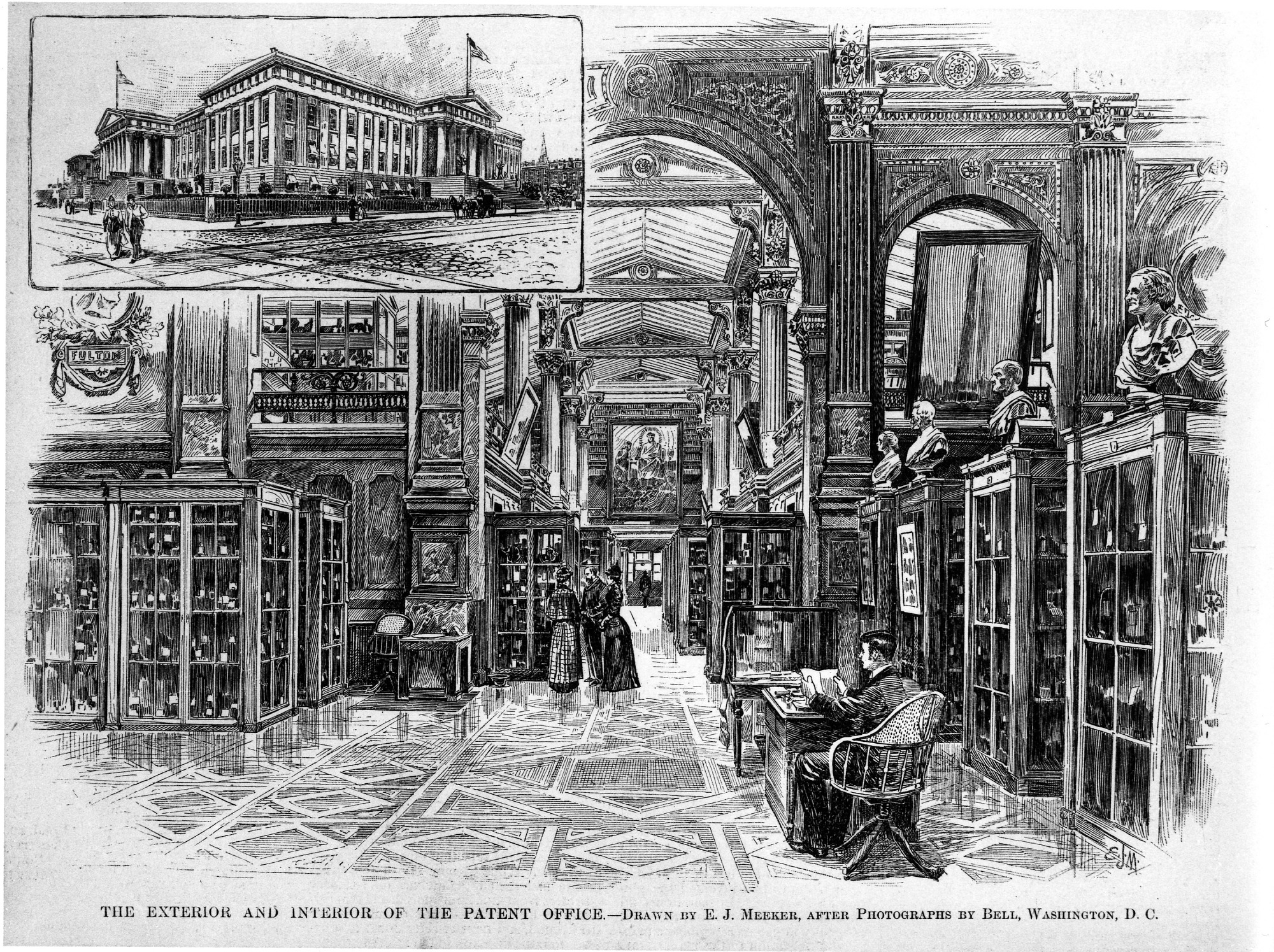 Jul 27 Interior and Exterior of Patent Office Building 1891