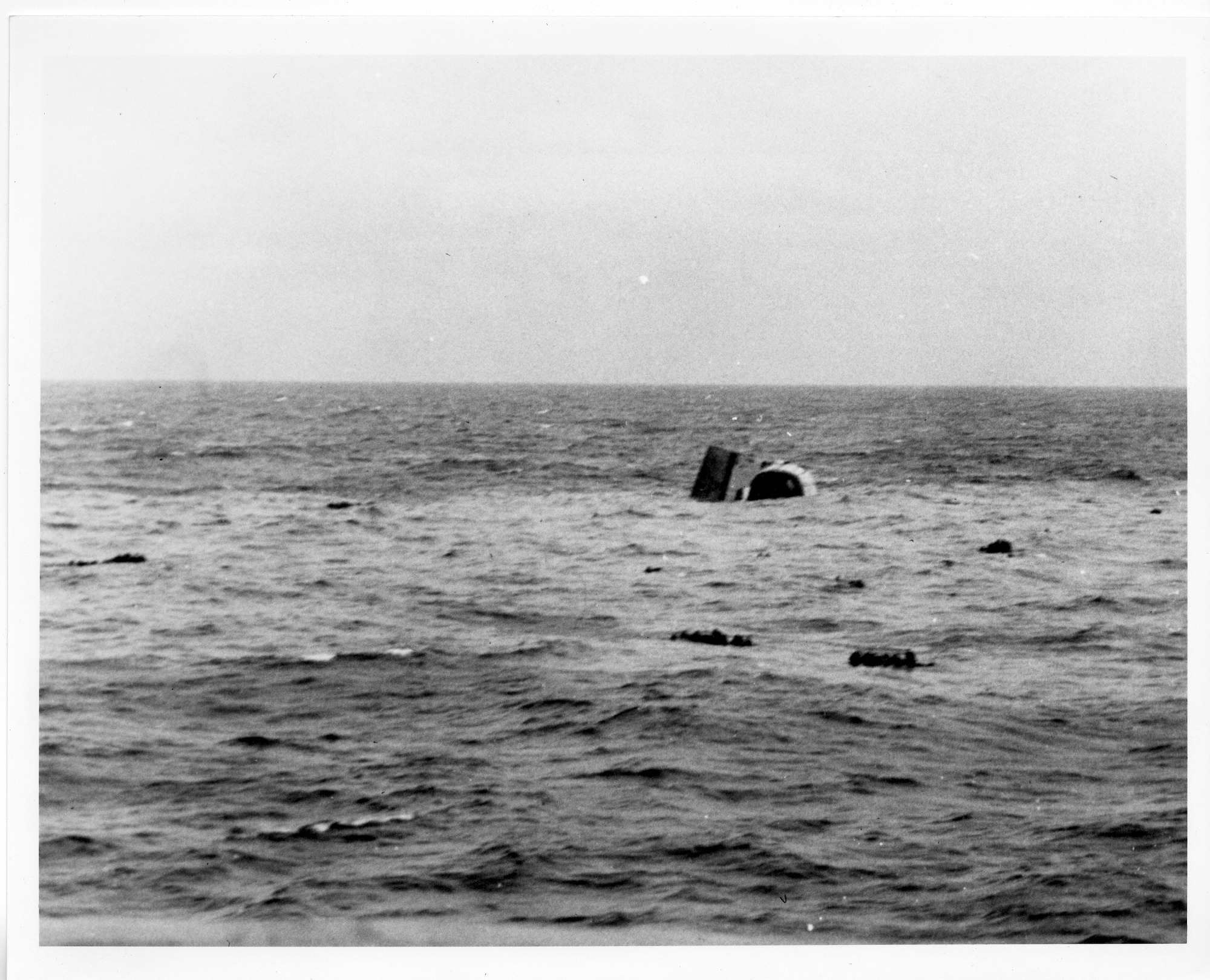 "U.S.S. ""Frederick C. Davis"" Sinking into the North Atlantic"