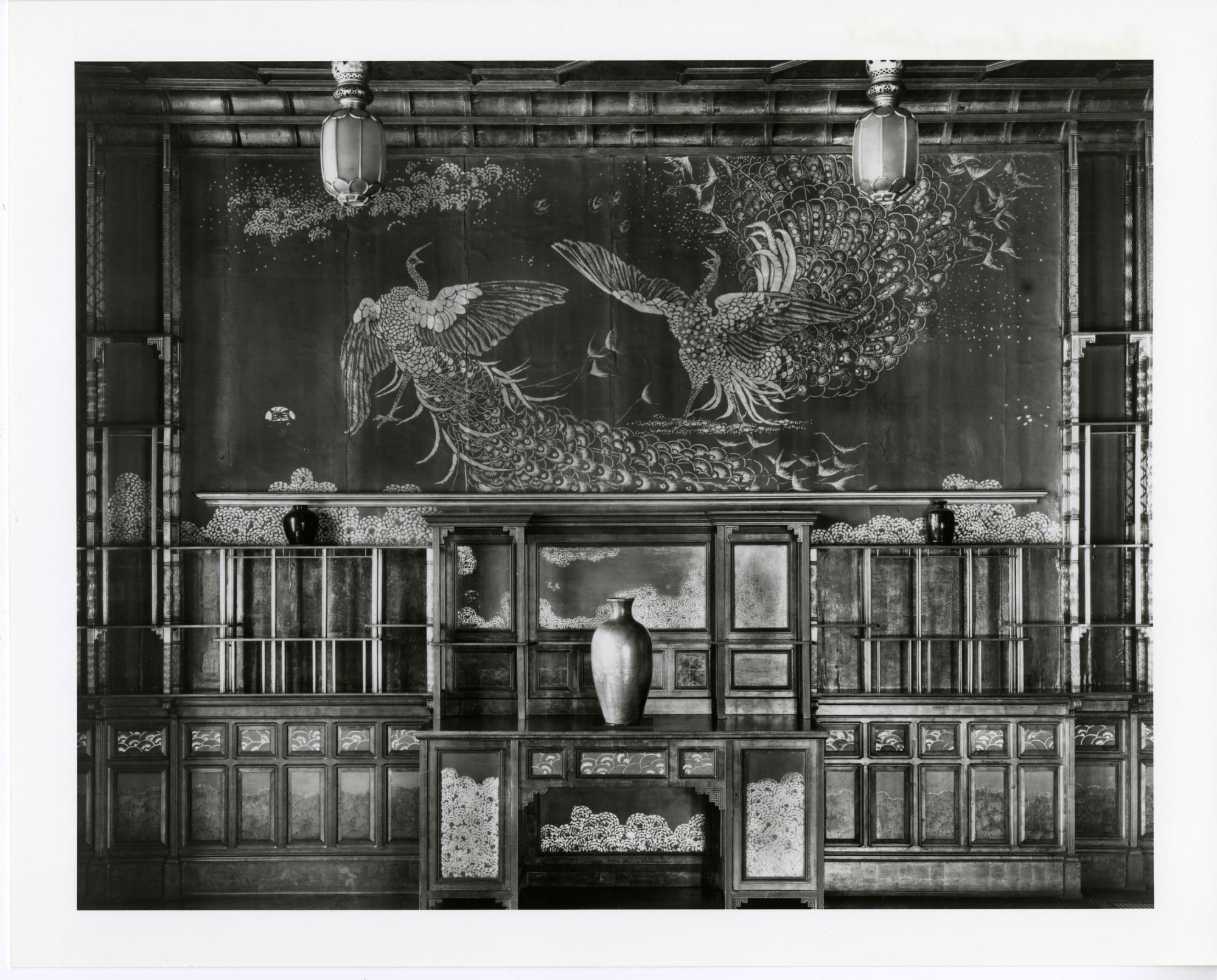 Freer Gallery of Art Peacock Room - Detail, South Wall
