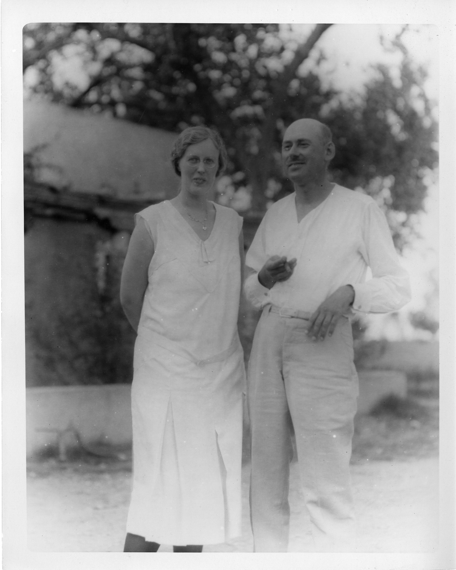 Robert Hutchings Goddard (1882-1945) and Unidentified Woman