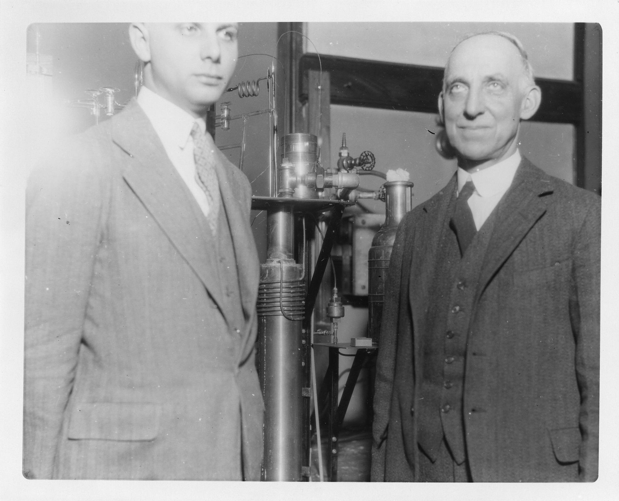 (left to right): Hobert Cutler Dickinson (1875-1949) and Ferdinand Graft Brickwedde (1903-1989)