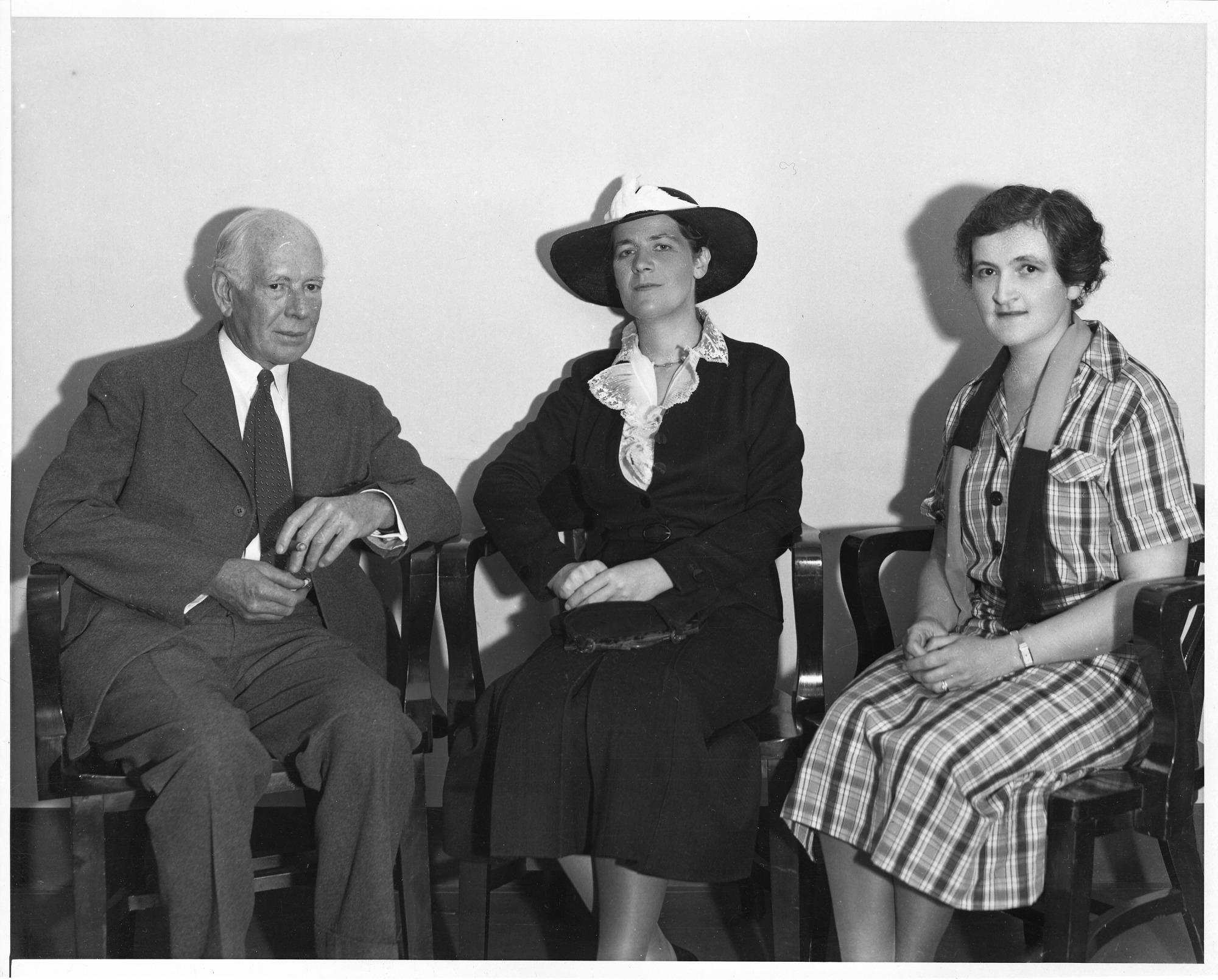 (l to r): Kendall Emerson (1907-1993), Alix Churchill, Eleanor Brown Merrill (b. 1887)