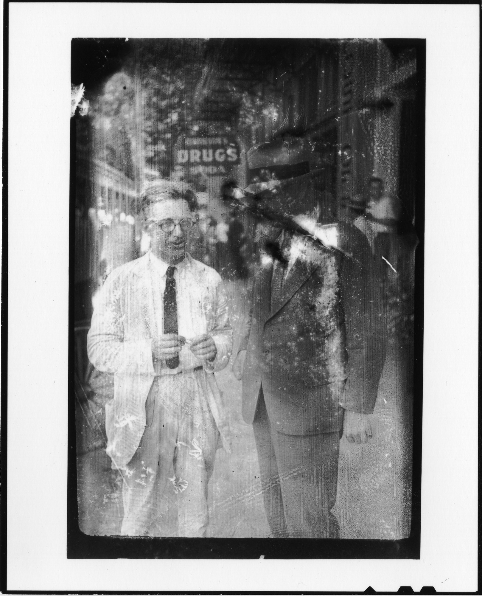 George Washington Rappleyea (left) with unidentified man