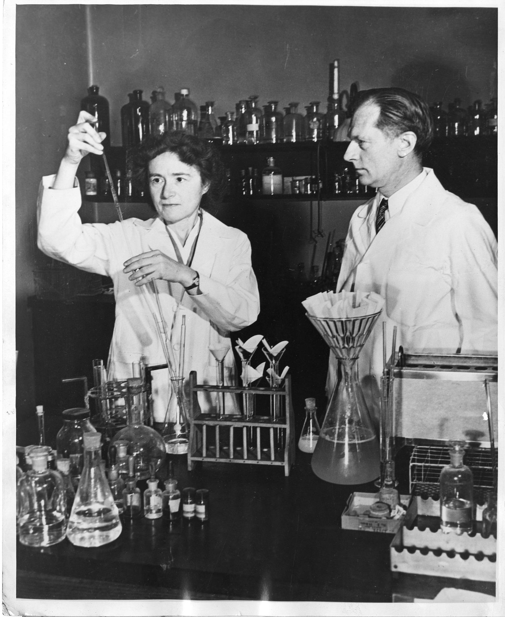 Gerty Theresa Radnitz Cori (1896-1957) and Carl Ferdinand Cori (1896-1984) 1947