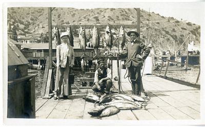 With Fish on the Dock, circa 1905