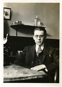 Image of Harold Kirby, Jr. (1900-1952), in laboratory