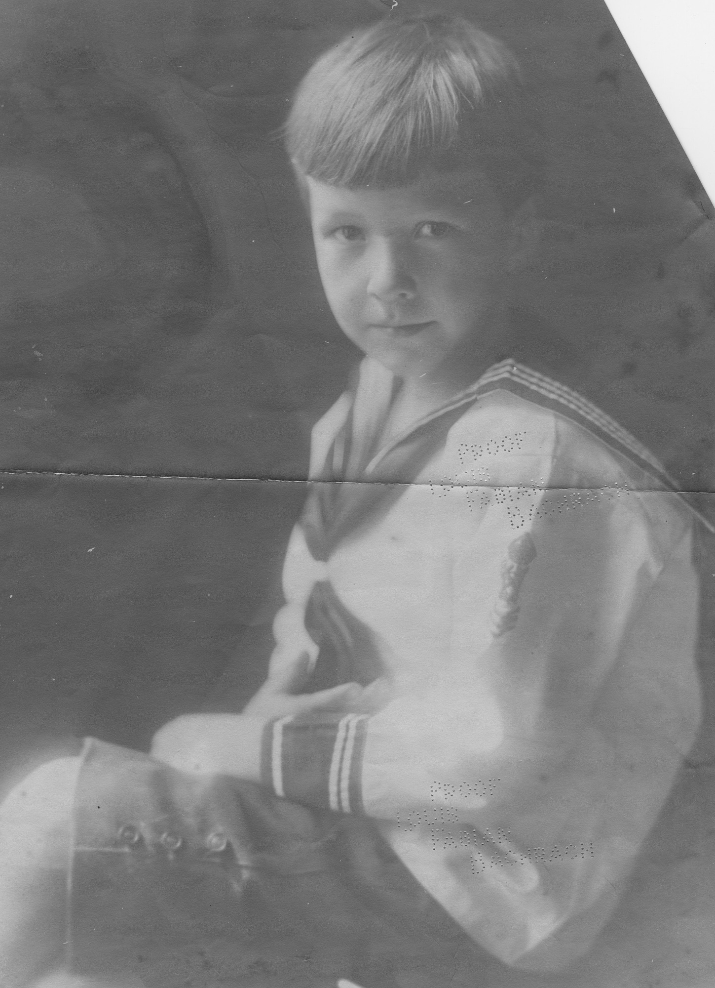 S. Dillon Ripley in Sailor Suit