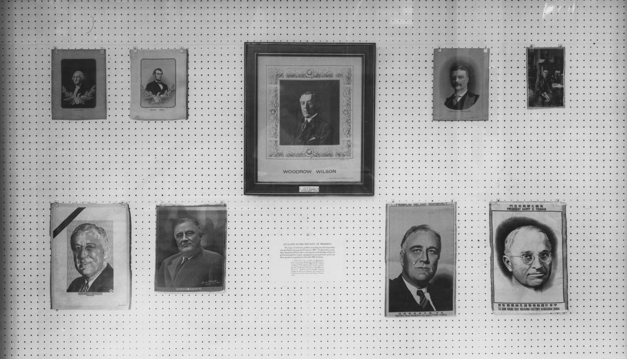 Jacquard Woven Portraits of American Presidents