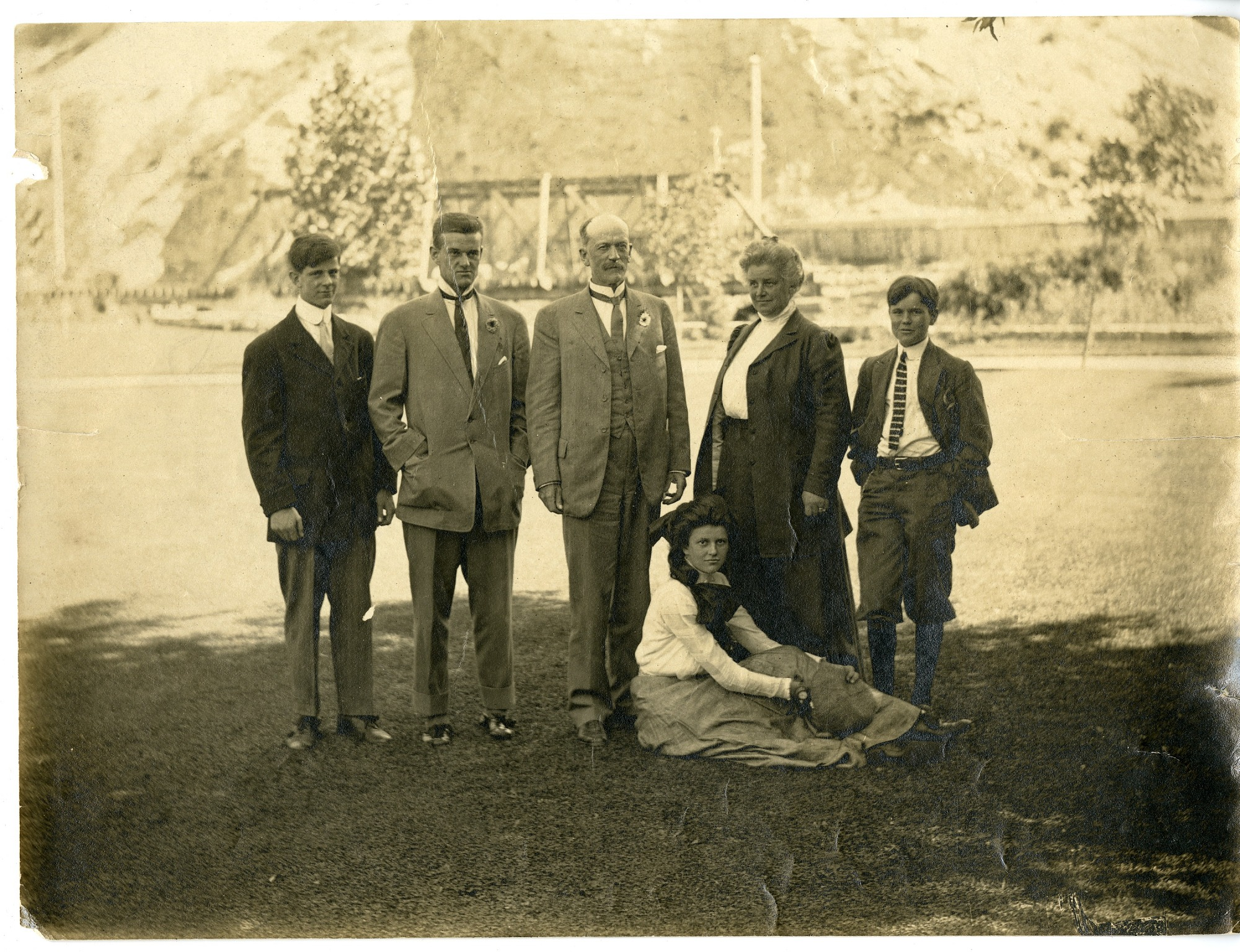 "Charles Doolittle Walcott (1850-1927) family at ""Olmsted,"" Provo, Utah, c. 1907"