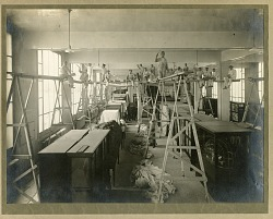 Painters working in the Natural History Building, 1912