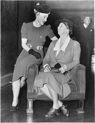 left to right: left to right: Mayris Chaney (Mrs. Hershey Martin) and Eleanor Roosevelt (1884-1962)