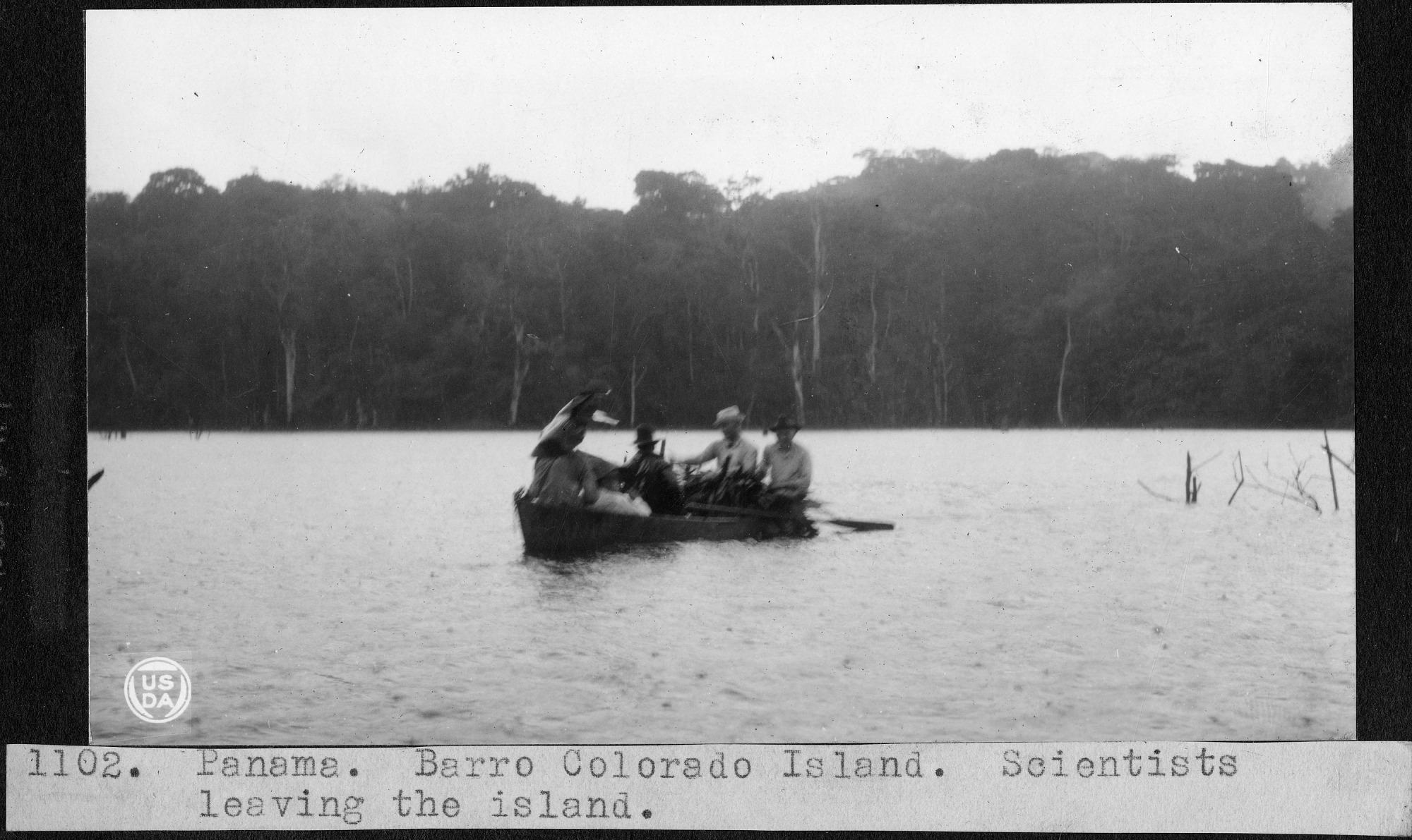 Scientists Leaving Barro Colorado Island