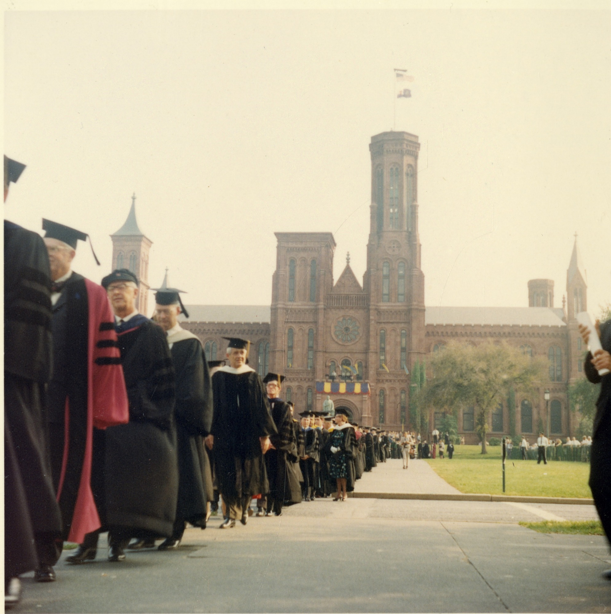 James Smithson Bicentennial Celebration Procession: Smithsonian Castle Visible in Background
