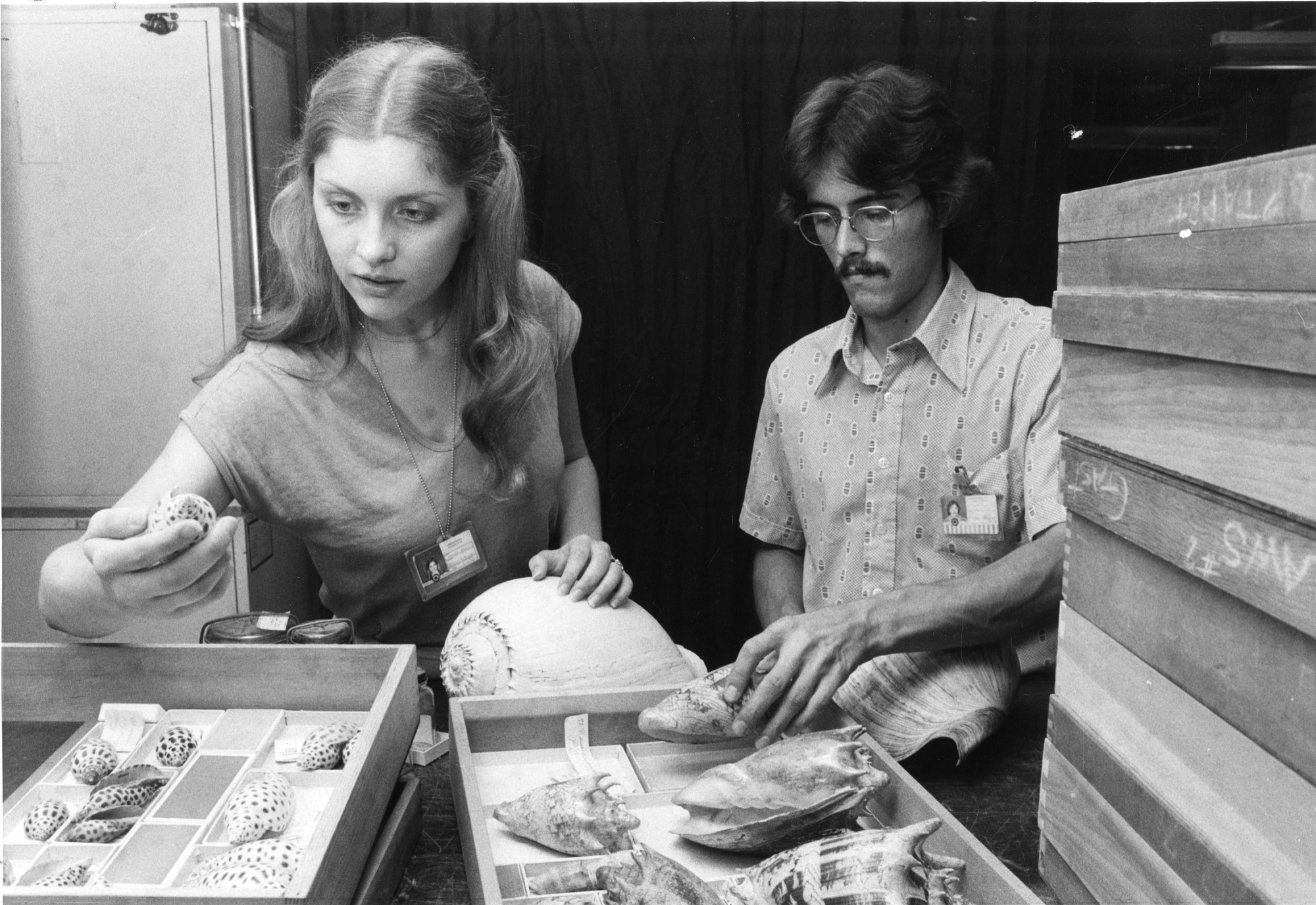 Deborah Bennett and Tim Coffer with Mollusks, 1979