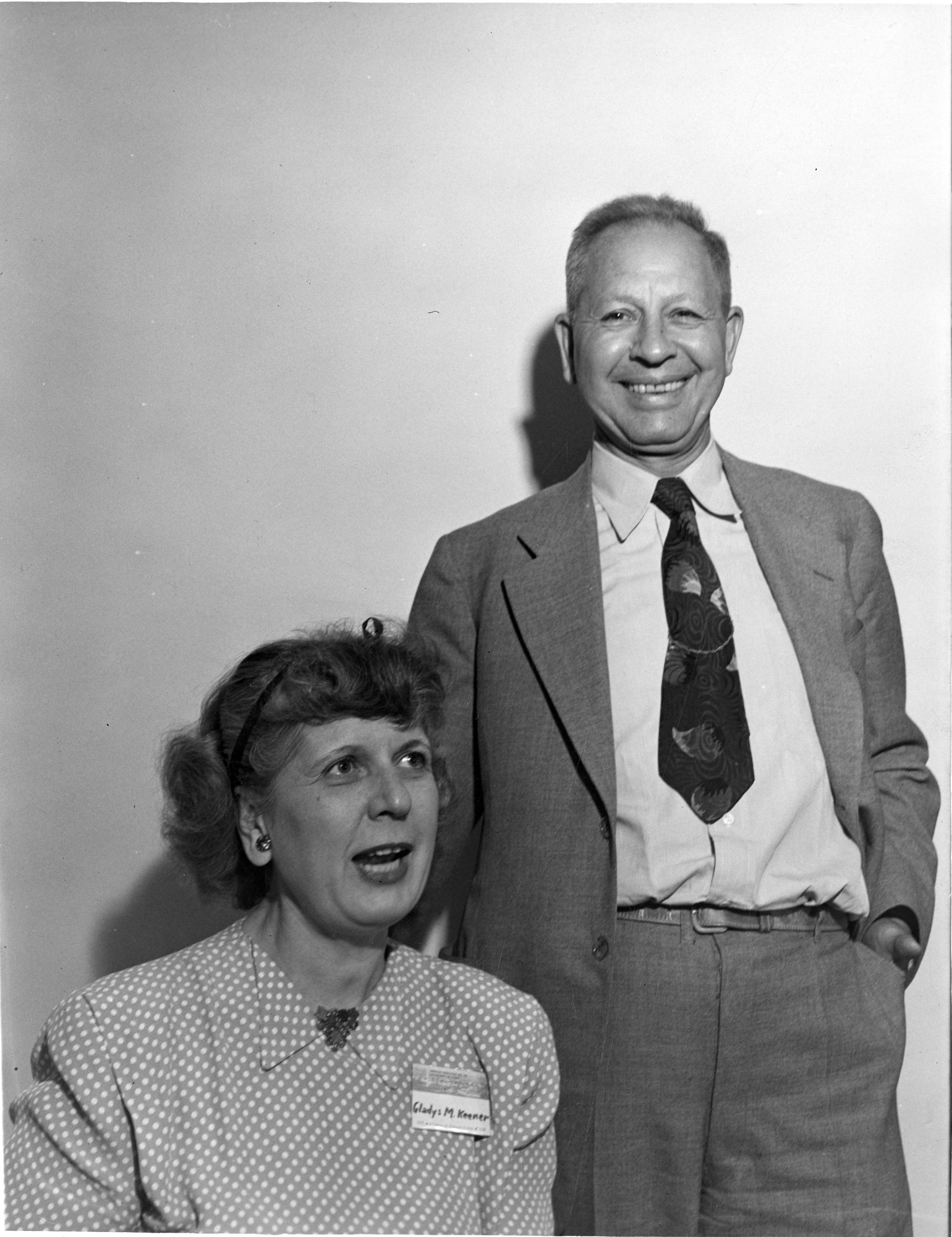 left to right: Gladys McLaughlin Schramm Keener (ca. 1897-1961) and Elvin Charles Stakman (1885-1979)