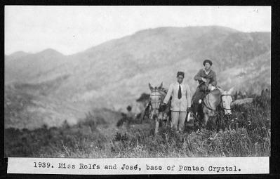 Miss Rolfs and José, 1929
