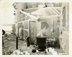 Icebreaker Covered in Ice