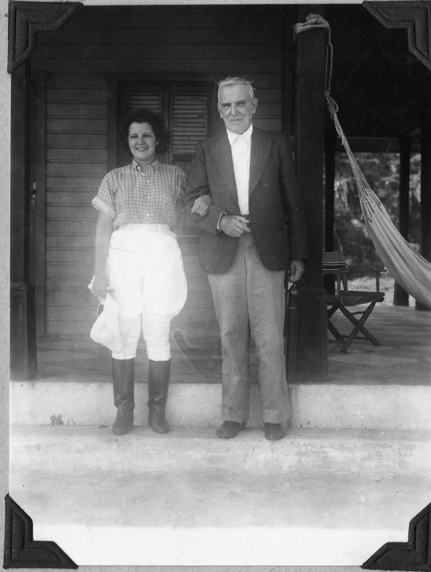 Mrs. Ventura Barnes and Dr. Henri Pittier, Ocumare de la Costa, Venezuela