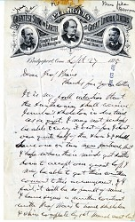 Letter from P. T. Barnum to Spencer Baird