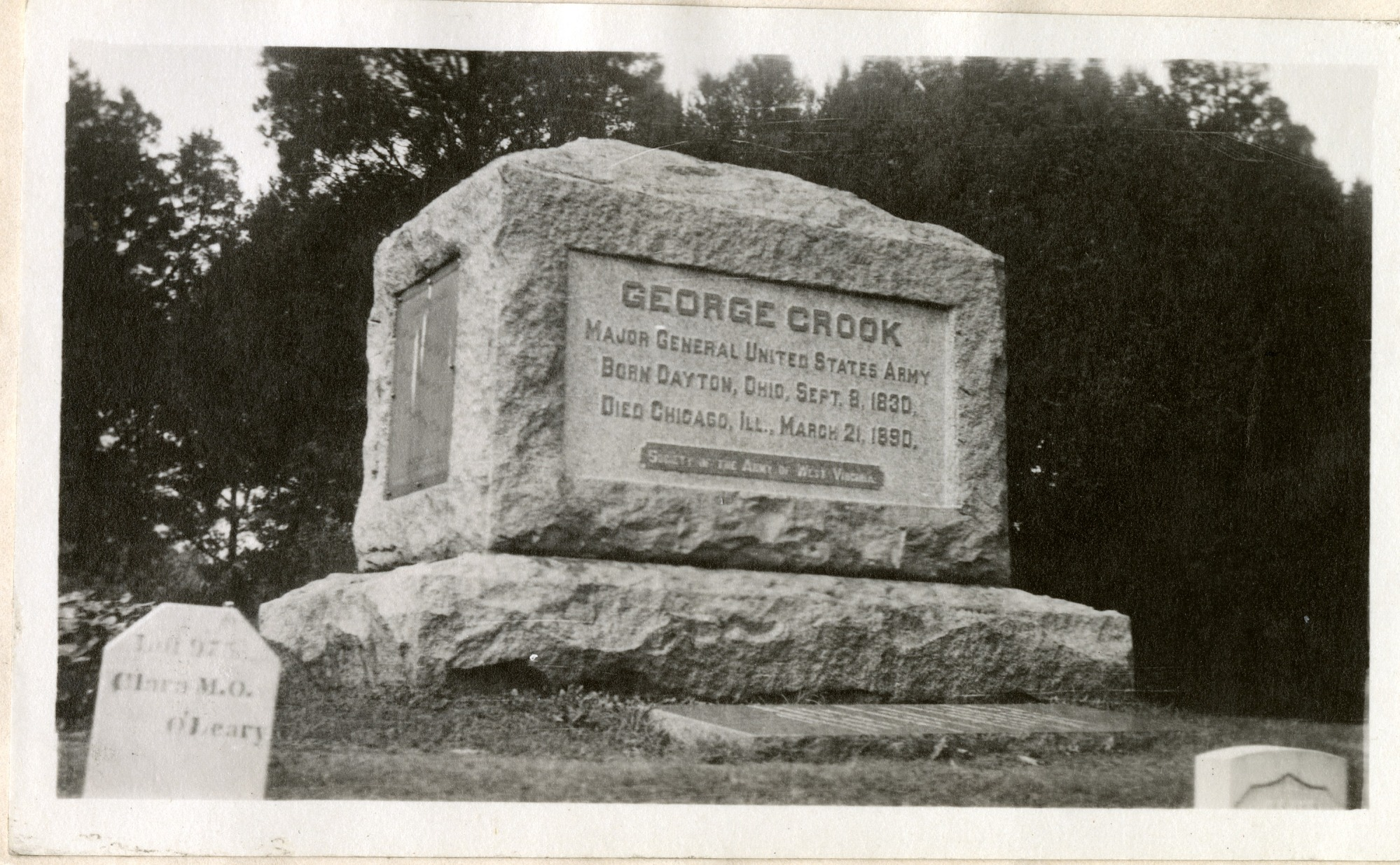 Tombstone of George Crook, Major General United States Army