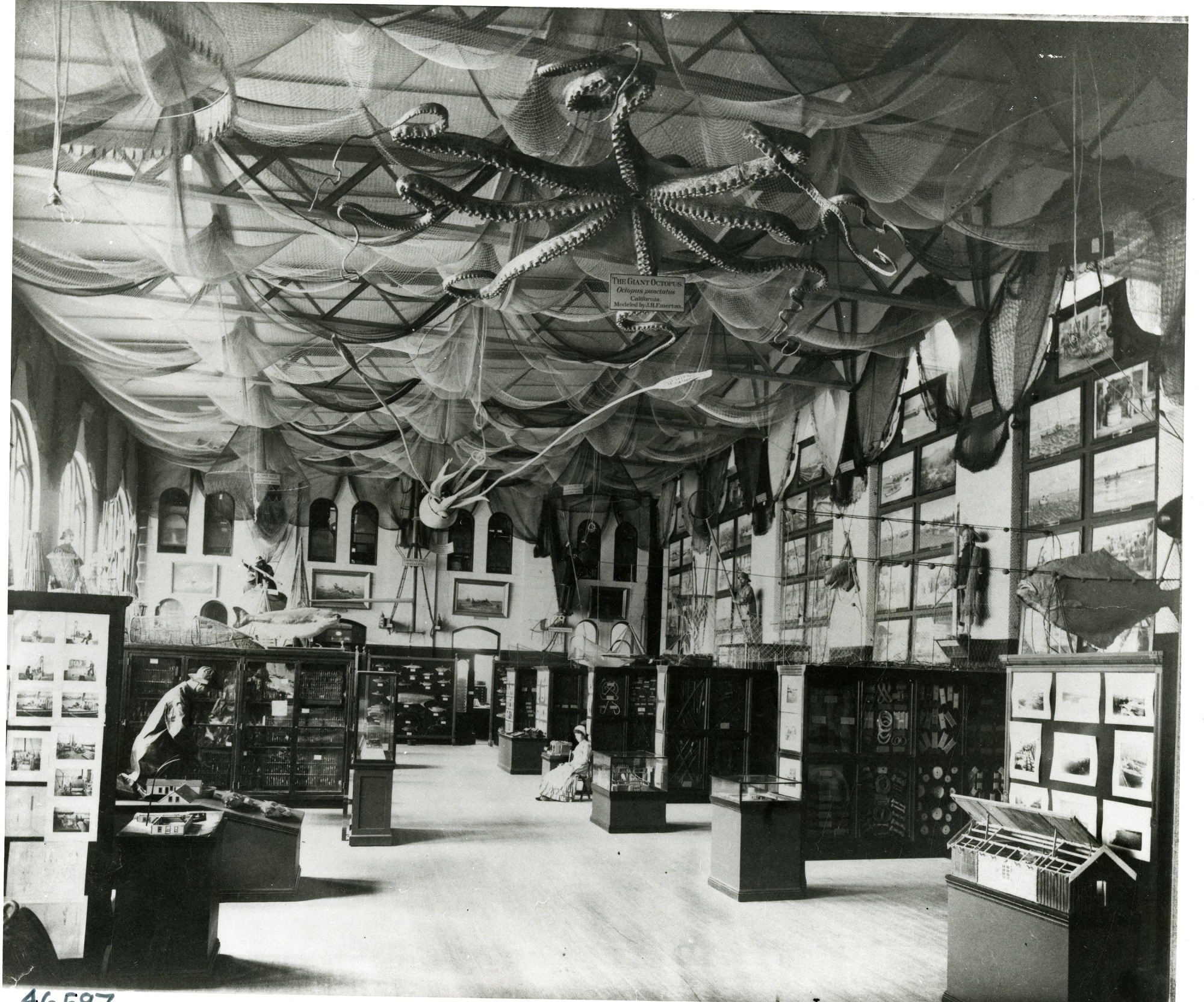 Arts and Industries Building, Early Fisheries Hall, before 1890