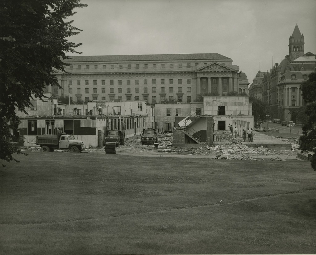 Demolition of Temporary World War II Federal Buildings Prior to Museum of History and Technology Construction