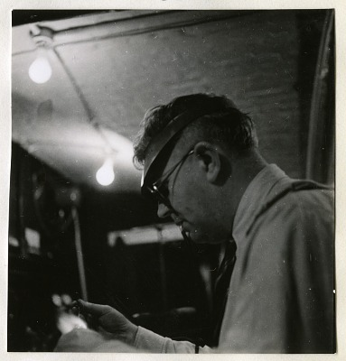 Leland B. Clark Working in the Division of Radiation and Organisms