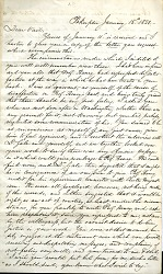 Letter from Samuel Morse to Alfred Vail, January 15, 1857