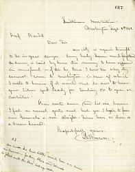 Letter from Solomon G. Brown to S. F. Baird September 4, 1862