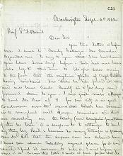 Letter from Solomon G. Brown to S. F. Baird, September 6, 1862