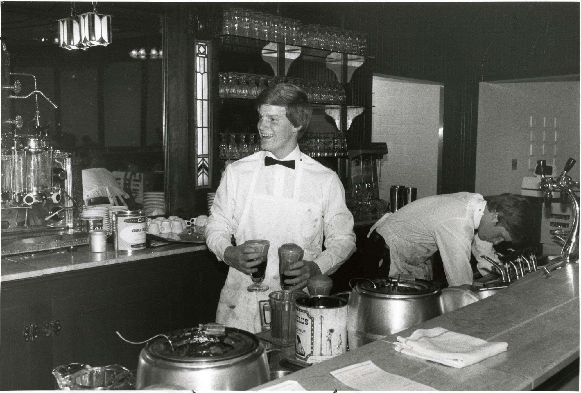 Soda Jerk Dean Robinson in the NMAH Ice Cream Parlor