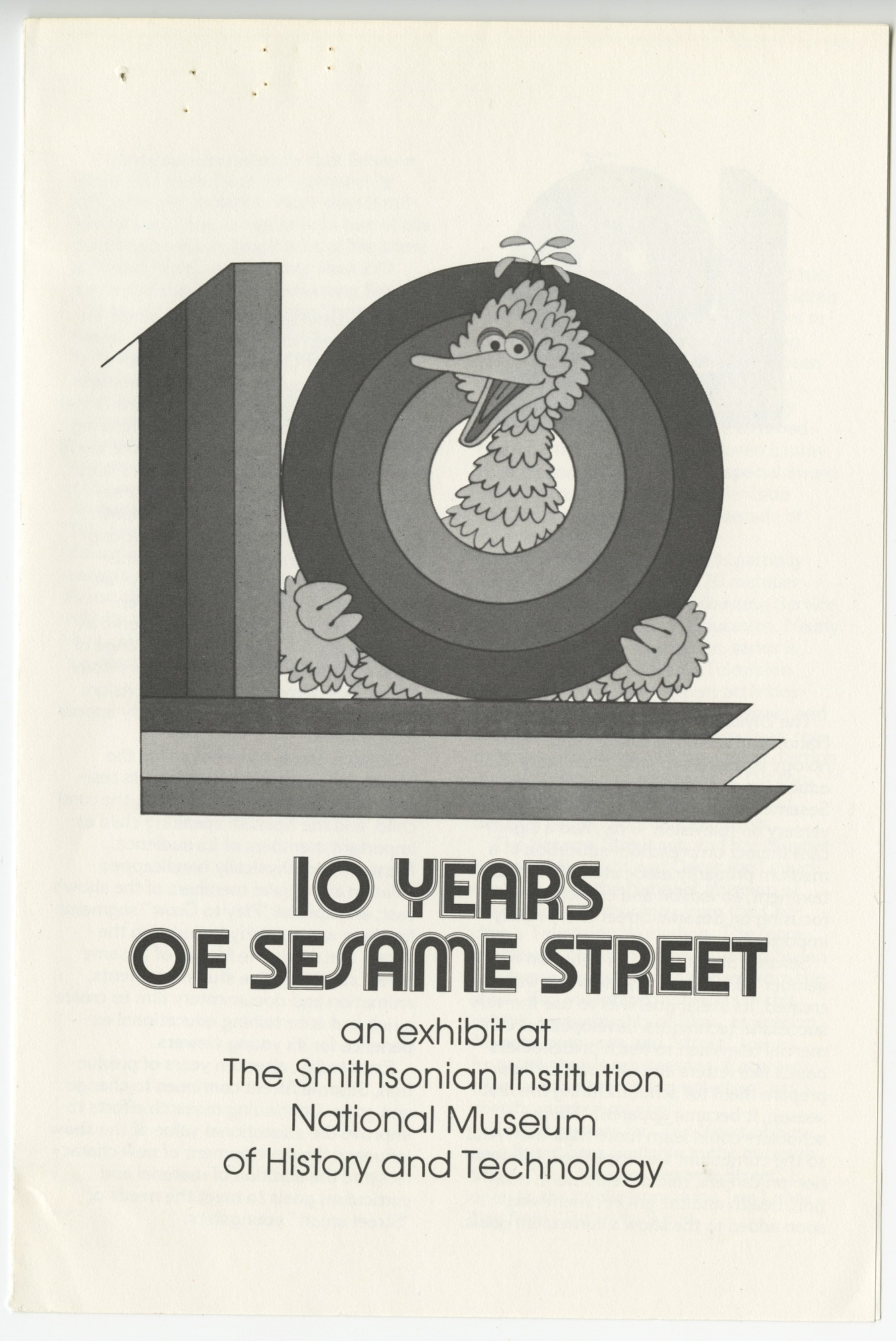 """Cover Page to """"10 Years of Sesame Street"""" Pamphlet"""