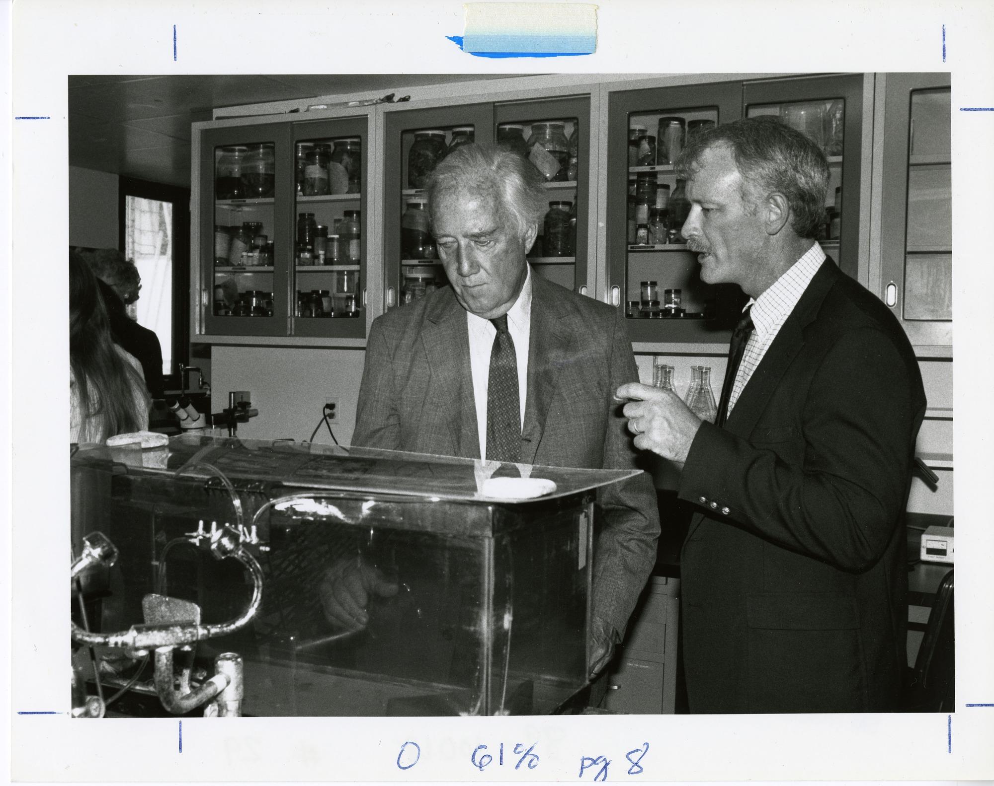 SERC Scientist Tuck Hines and Senator Mathias