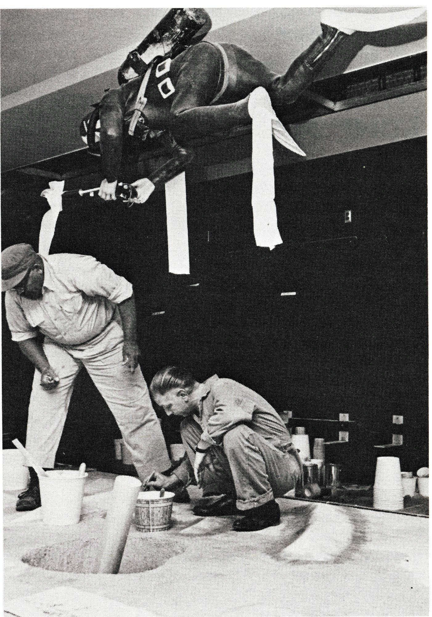Construction of the Underwater Exploration Exhibit