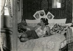Baroness Eloise Bosquet de Wagner Wehrhorn in her boudoir
