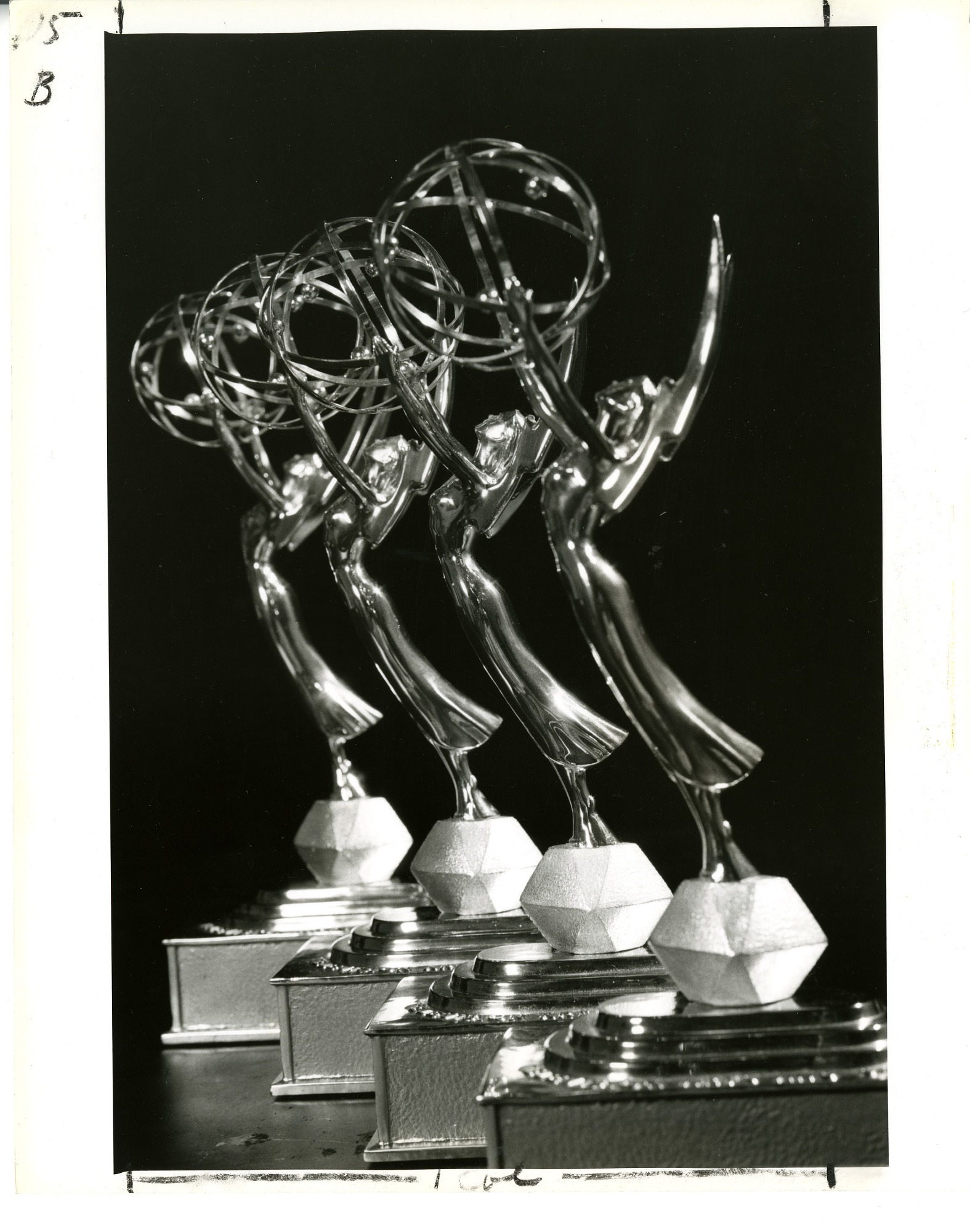"""Four Emmy Statuettes awarded for the Smithsonian Film """"Celebrating a Century"""""""