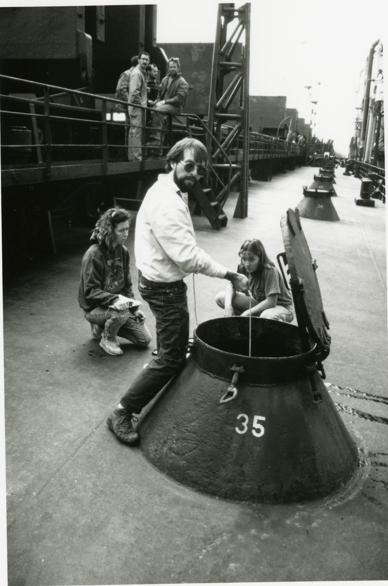 Sampling Ballast Water in Baltimore Harbor