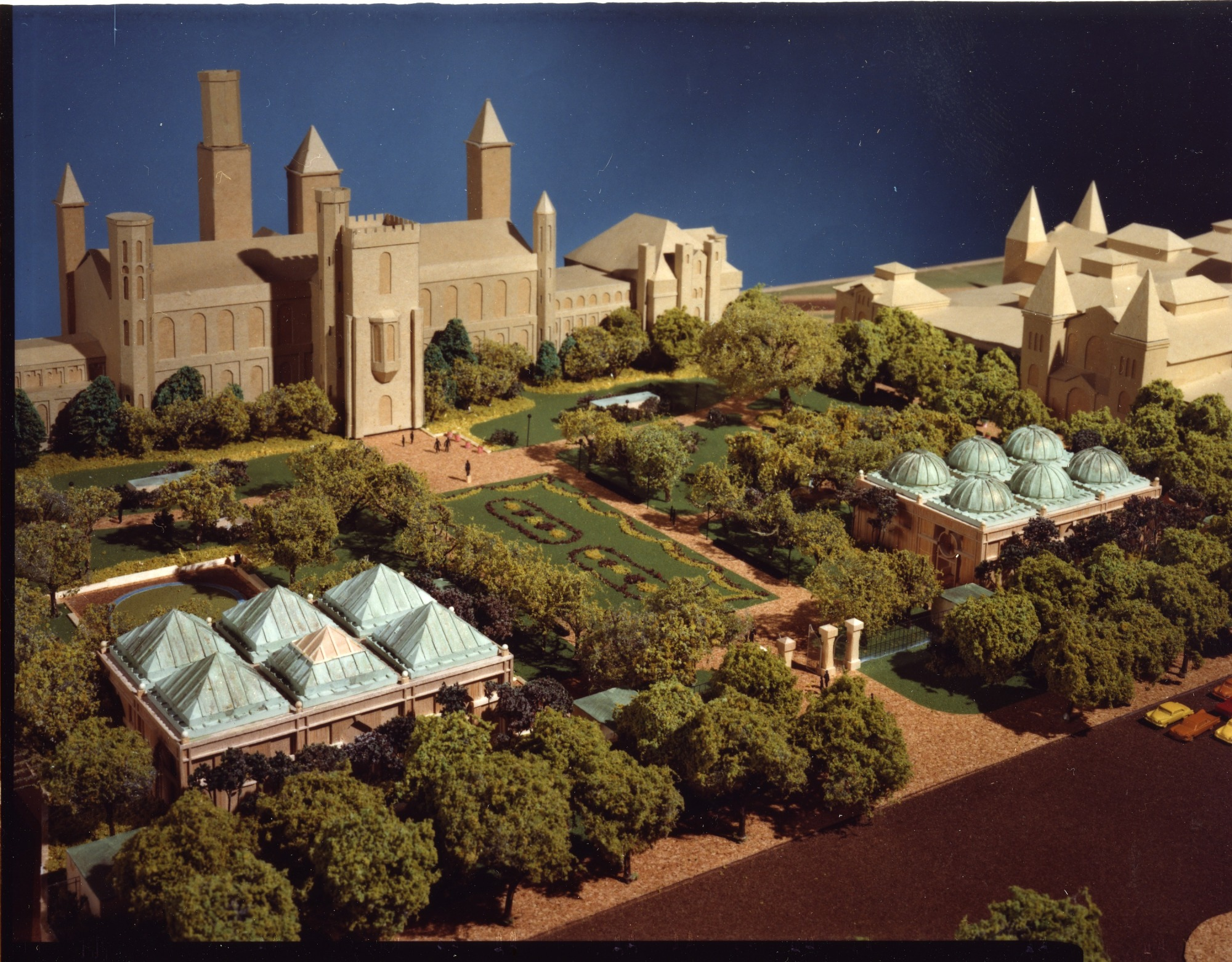 Model of the Quadrangle Viewed from the Southwest