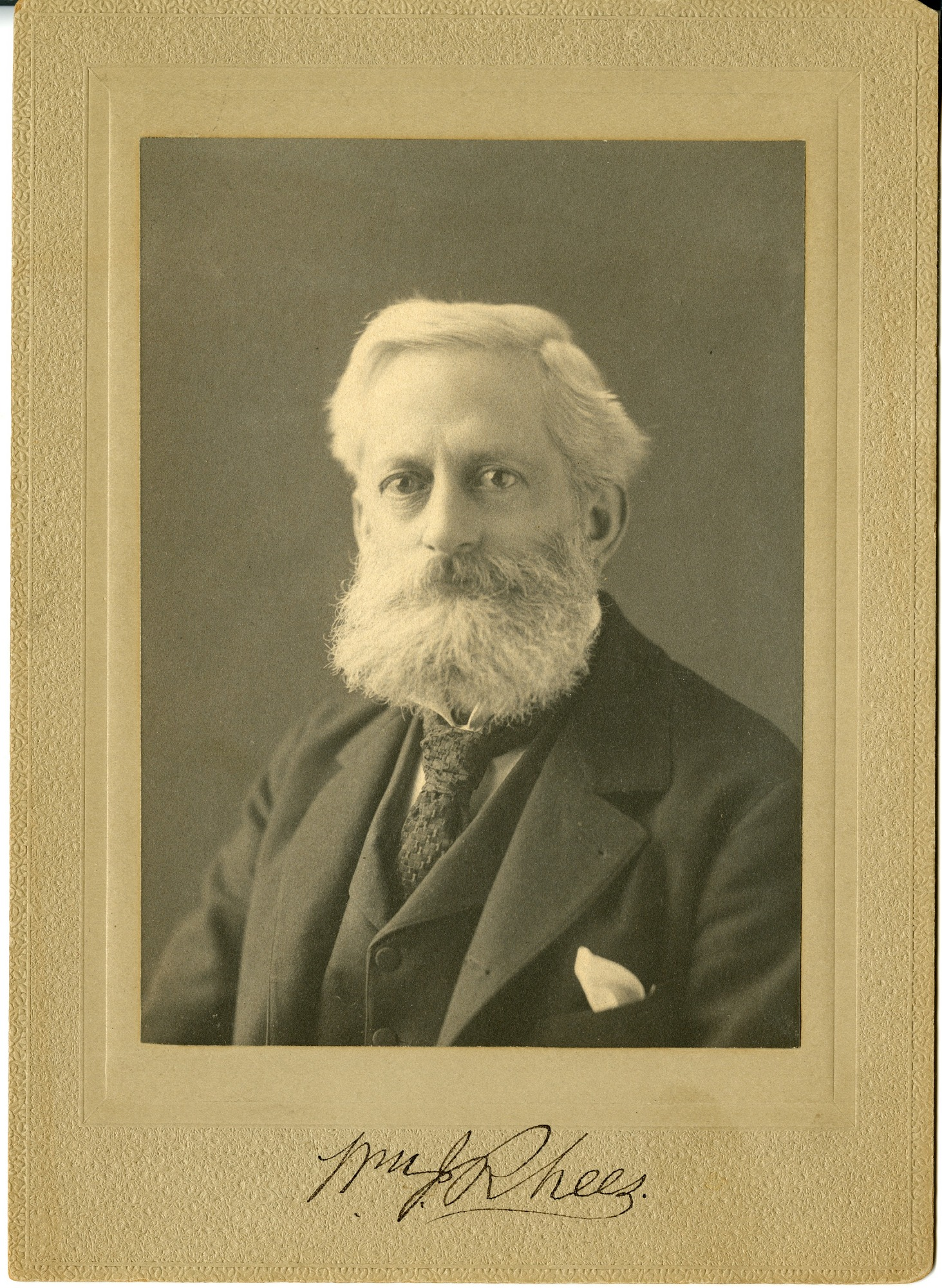 William J. Rhees, by Unknown, 1893, Smithsonian Archives - History Div, SIA2011-1380 and 83-16174.