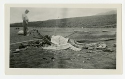 Captain Nyggerud's Body, Marchena Island. [NOTE: Graphic Content]