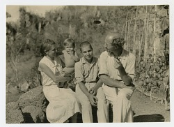 Arthur and Margret Wittmer with their children Harry and Rolf Hans (baby)