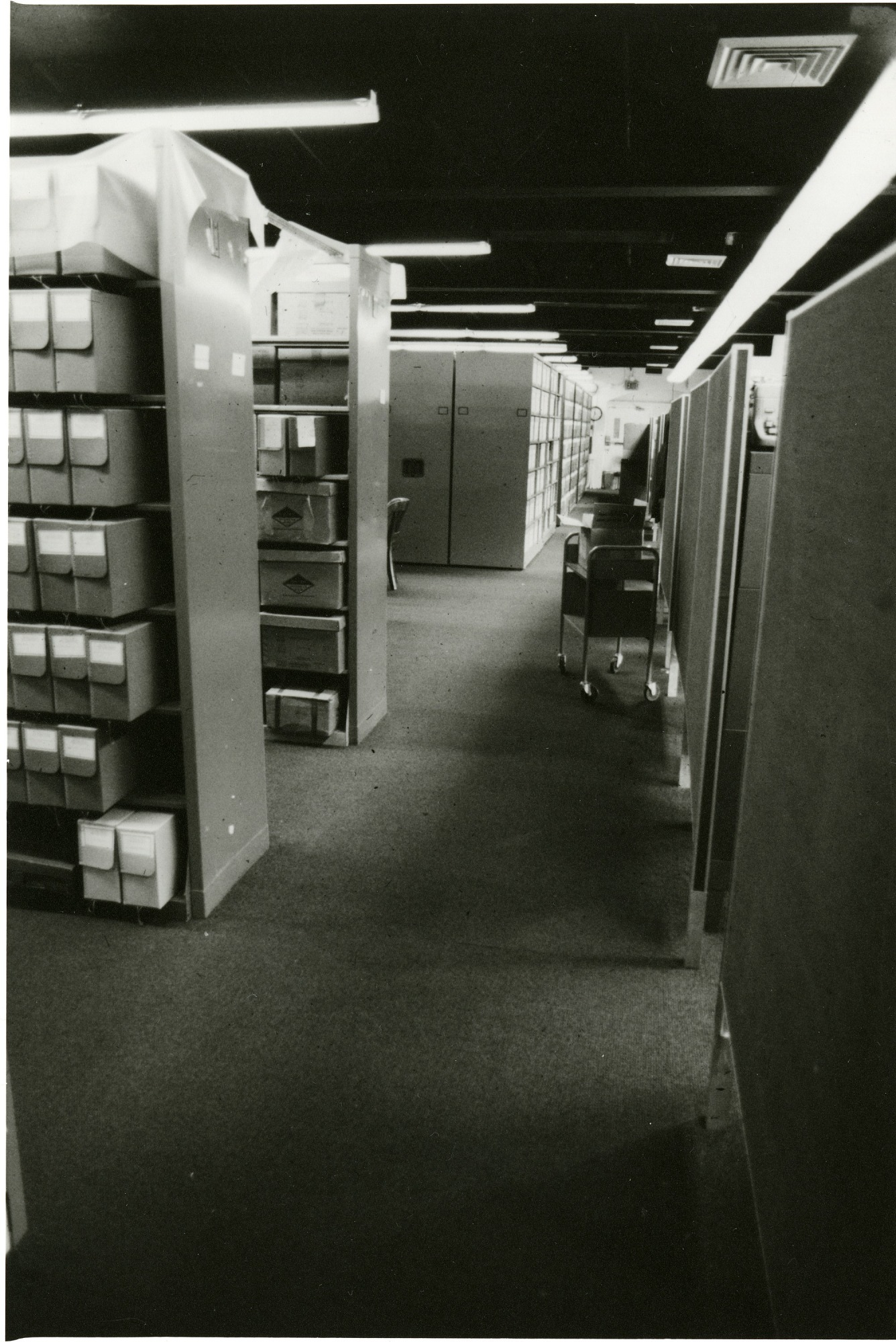 Smithsonian Institution Archives in the Arts and Industries Building, Stack Range, Storage, and Cubicle Work Station Area